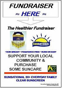 Sunsational: Fundraiser Sign